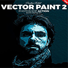 Vector Paint 2 Photoshop Action logo