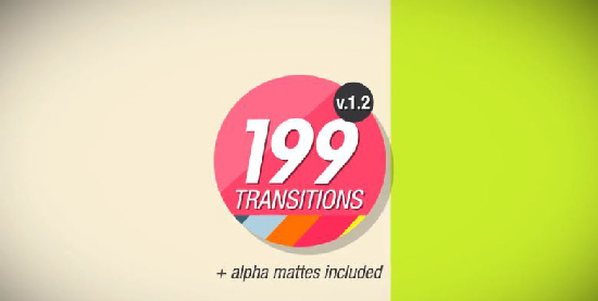 Videohive 199 Transitions Pack center