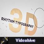 Videohive 3D Rhythm Typography Intro logo