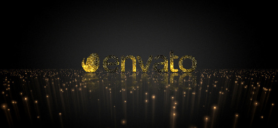 Videohive Golden Elegance Logo center