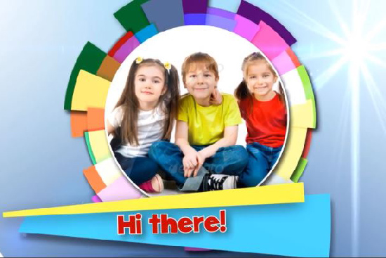 Videohive Kids Colorful Opener center