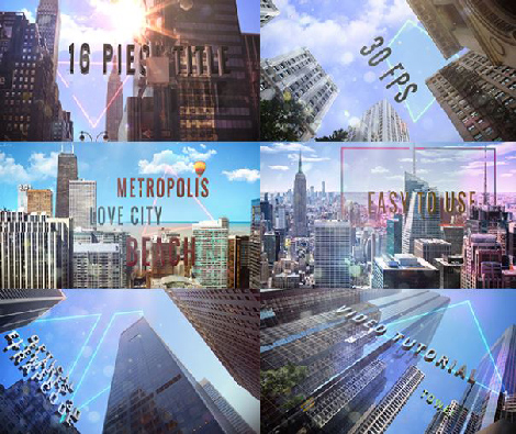 Videohive Titles of City center