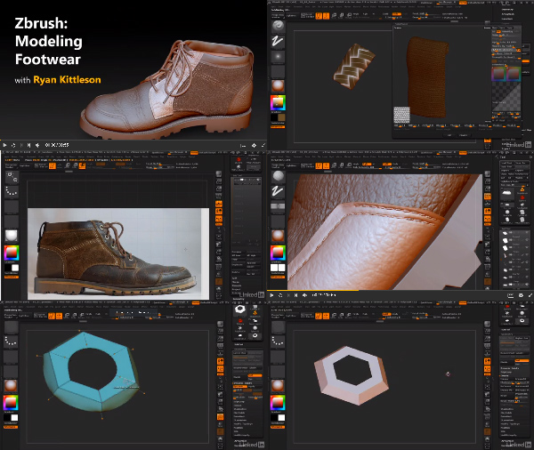ZBrush: Modeling Footwear center