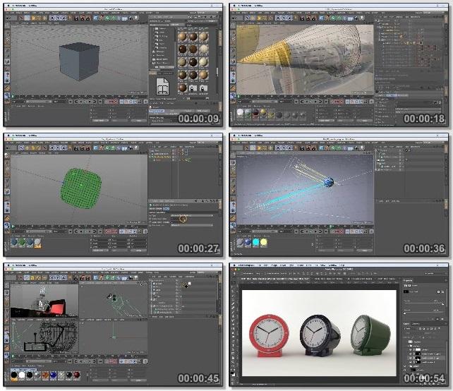 دانلود فیلم آموزشی Cinema 4D R18 Essential Training: Product Visualization and Design