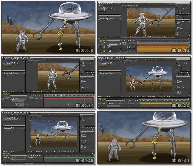 دانلود فیلم آموزشی Getting Started with the Puppet Tool in After Effects