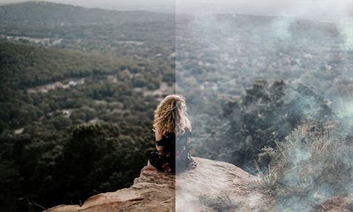 20 Mysterious Fog Overlays and Photoshop Actions center