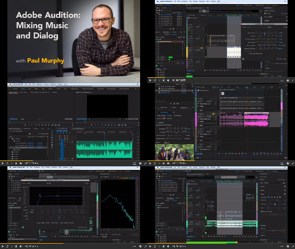 Adobe Audition: Mixing Music and Dialog center