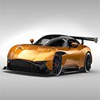 Aston Martin Vulcan 2016 3d model logo