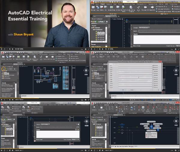 AutoCAD Electrical Essential Training 2018 center
