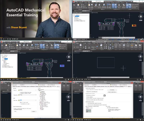 AutoCAD Mechanical Essential Training 2018 center