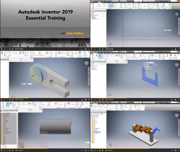 Autodesk Inventor 2019 Essential Training center