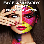 Face and Body Paint Photoshop Action logo