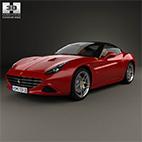Ferrari California T 2015 3d Model logo