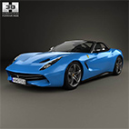 Ferrari F60 America 2015 3D model logo