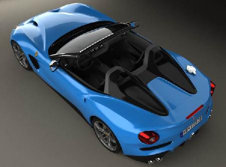 Ferrari F60 America 2015 3D model center