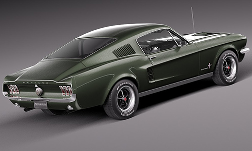 Ford Mustang Fastback 1967 center