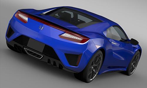 Honda NSX 2017 3D model center