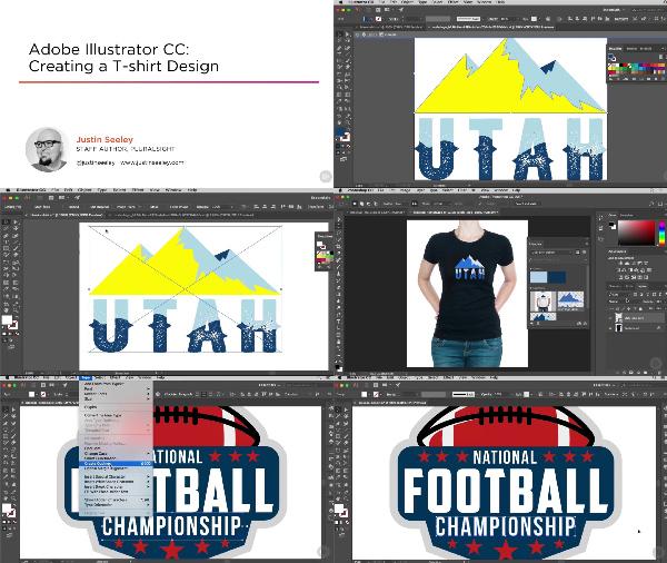 Illustrator CC Creating a T-shirt Design center