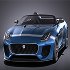 Jaguar Project 7 Concept 2016 3D Model logo