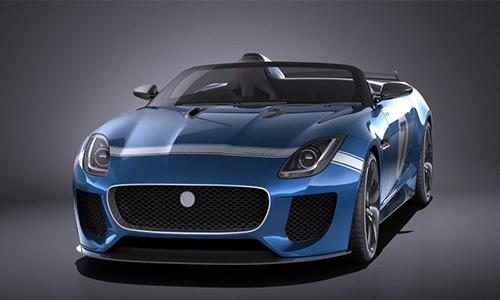Jaguar Project 7 Concept 2016 3D Model center