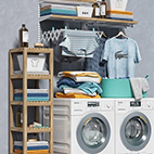 Miele washing machines 3D Model logo