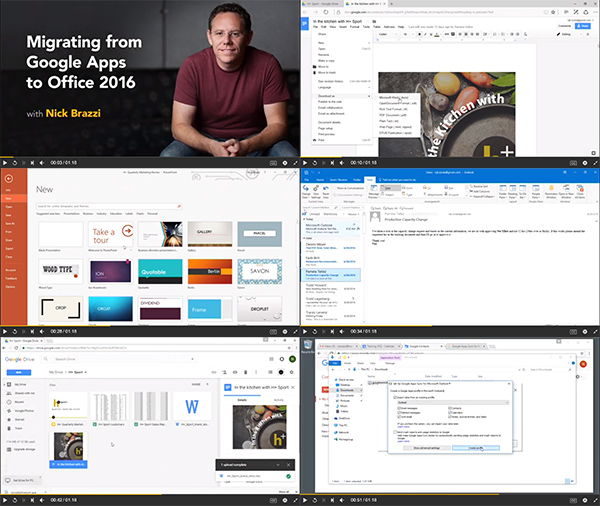 Migrating from Google Apps to Office 2016 center