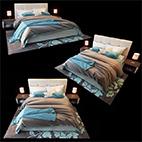 Modern bed 3d Model logo