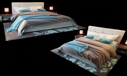Modern bed 3d Model center