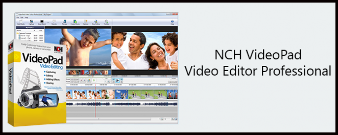 NCH VideoPad Video Editor Professional center