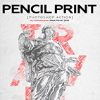 Pencil Print Photoshop Action logo
