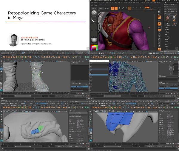 Retopologizing Game Characters in Maya center