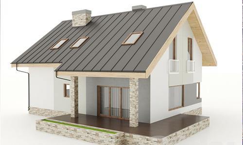 Small European house 3d Model center