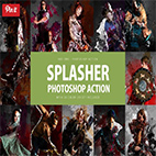 Splasher Photoshop Action logo