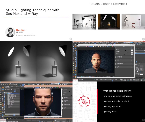 Studio Lighting Techniques with 3ds Max and V-Ray center