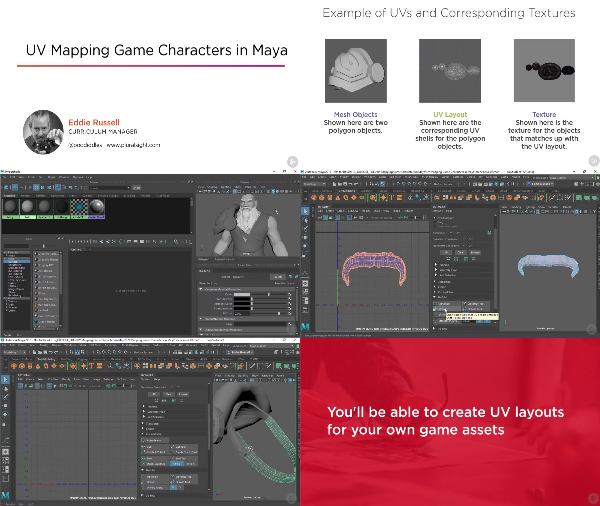 UV Mapping Game Characters in Maya center