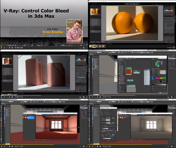 V-Ray Control Color Bleed in 3ds Max center