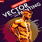 Vector Painting CS6 & CC+ Photoshop Action logo