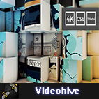 Videohive 3D Cubes Wall Slideshow in 4K logo