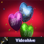 Videohive Balloon Hearts logo