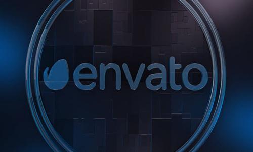 Videohive Cool Glass Logo center