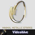 Videohive Minimal Metallic Stripes Reveals logo