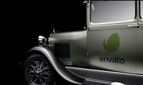 Videohive Retro Car Logo Reveal center