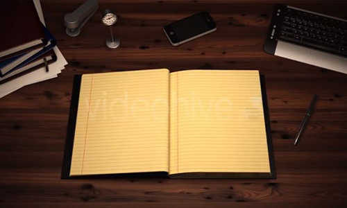 Videohive The Classic Notebook center