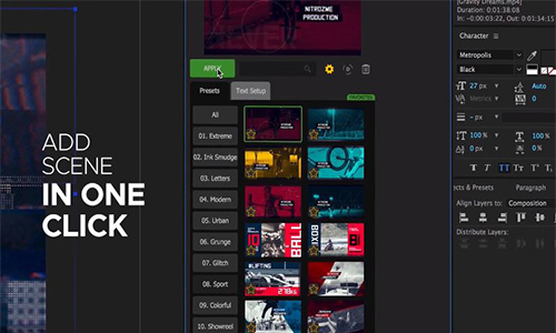 Videohive Video Library - Video Presets Package center