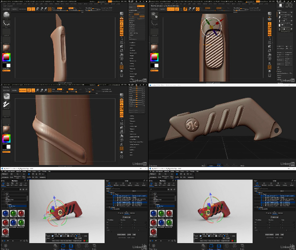 Zbrush and Keyshot for Product Design and Rendering center