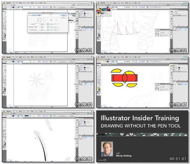 دانلود فیلم آموزشی Illustrator: Drawing without the Pen Tool از Lynda