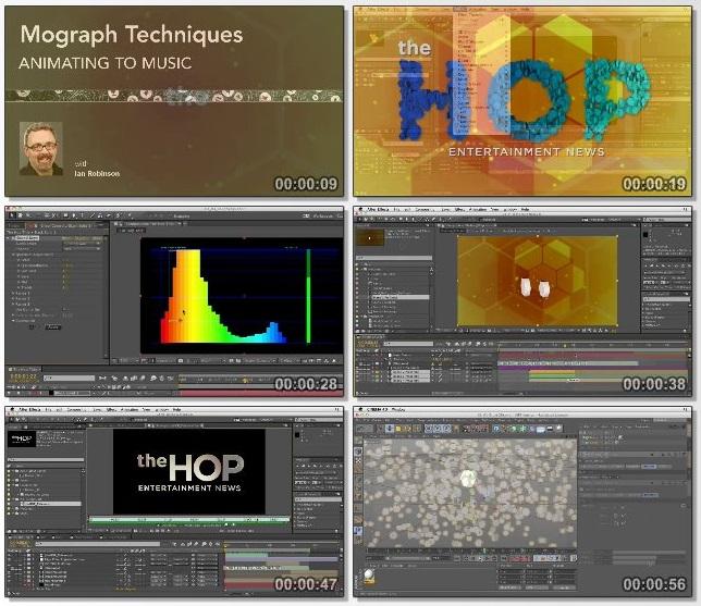 دانلود فیلم آموزشی Mograph Techniques: Animating to Music از Lynda