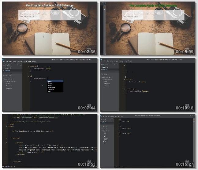 دانلود فیلم آموزشی Mastering Basic CSS Selectors از Udemy