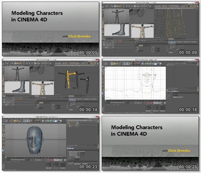 دانلود فیلم آموزشی Modeling Characters in Cinema 4D از Lynda