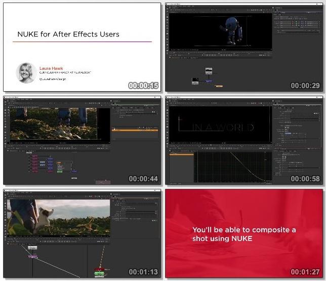 دانلود فیلم آموزشی NUKE for After Effects Users از Pluralsight